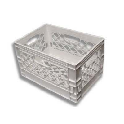 24qt White  Milk Crate