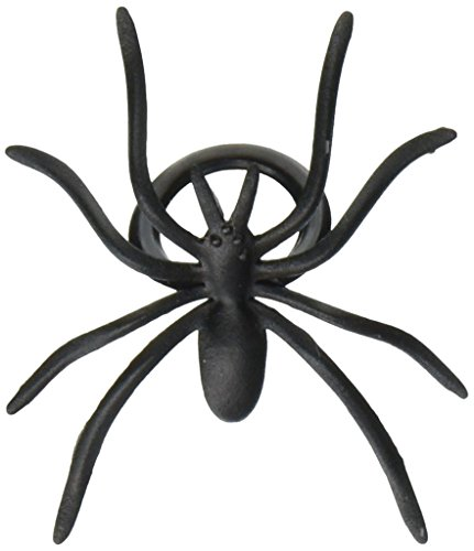 Oasis Supply 501780-144 144-Piece Black Spider Ring Cupcake Topper, 144,]()