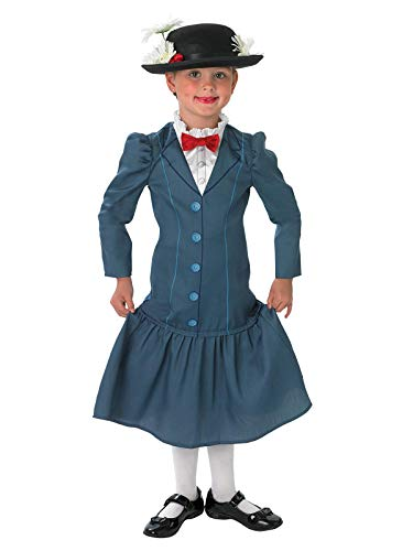 Rubie's Official 1960s Mary Poppins + Hat Girls Fancy Dress 60s Disney Childs Costume Outfit]()