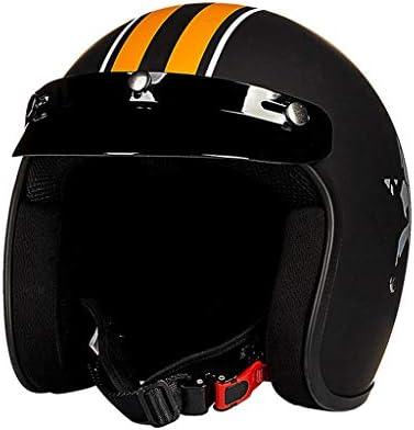 XINGZHE ヘルメット - 大人のオープンフェイスレトロオートバイヘルメットユニセックス 安全ヘルメット (Size : XXL)