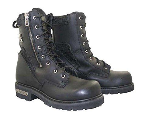 Xelement Mens Black Xelement Assassin Biker Boots - 12