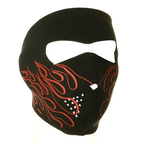 Neoprene Full Face Mask - Orange Flame