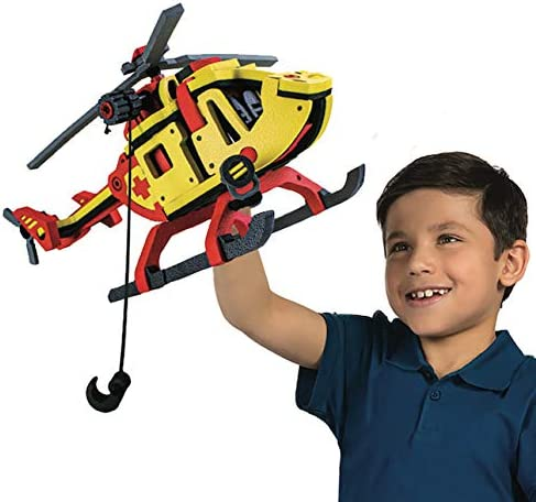 Bloco Toys 2 in 1 Rescue Helicopter Hydrocopter 207 Pieces STEM Toy Chopper DIY Building Construction Set