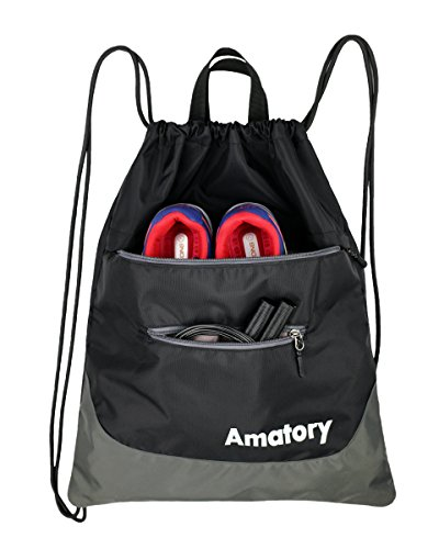 Amatory Drawstring Backpack Sports Athletic Gym Waterproof String Bag Cinch...