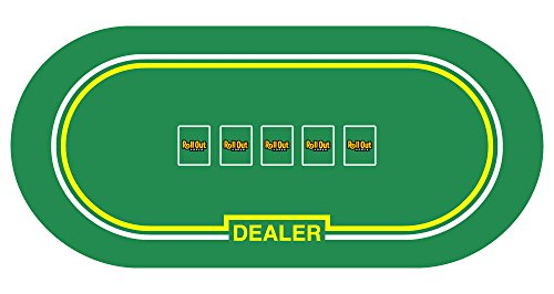 Roll Out Gaming Poker with Dealer Table Top (Poker Table Top Felt)
