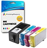 Printing Pleasure 4 (FULL SET) Compatible Chipped Ink Cartridges Replacement for HP 920XL for HP Officejet 6000 6500 6500A 7000 7500A - Black/Cyan/Magenta/Yellow, High Capacity