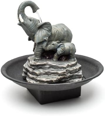 Relaxus Decor Desk Elephant Watering Hole Fountain – Water Fountain