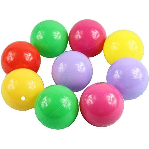 Fireloli 100pcs Colorful Ball Fun Ball Soft Plastic Ocean Ball Baby Kid Toy 5.5CM, Colours