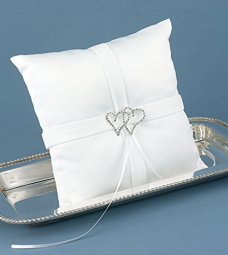 - With All My Heart Ring Pillow, White