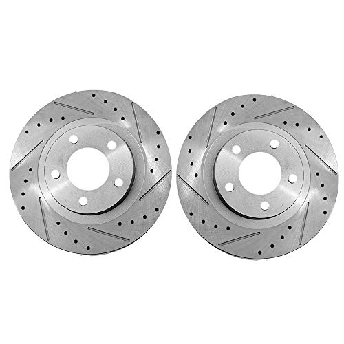 Front Brake Rotors For Chrysler 2011-2014 Sebring Sedan Convertible Dodge Avenger Jeep Compass Patriot