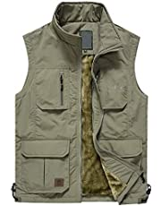 Jenkoon Men's Casual Lightweight Outdoor Travel Fishing Hunting Vest Jacket with Pockets
