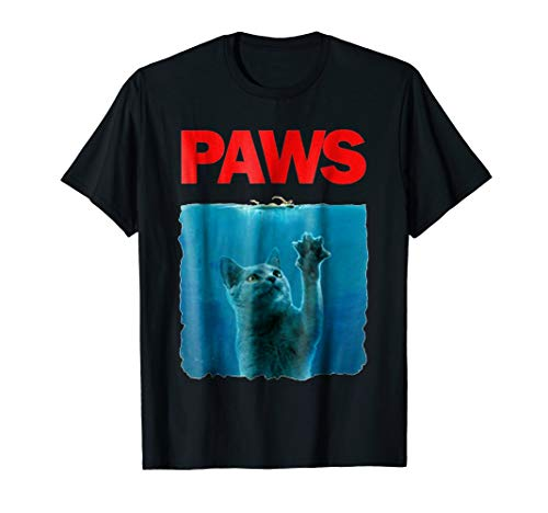 Paws Kitten Meow Parody Funny Tshirt Cat Lover Gifts