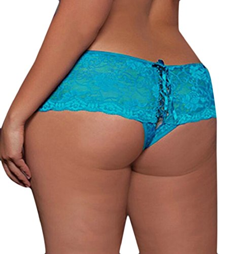 M&S&W Womens Sexy Lingerie Lace Crotchless Boyshort Panties Underwear 3 5XL