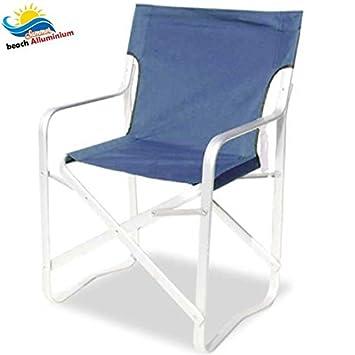 Bakaji silla director Maxi Deluxe azul de aluminio plegable ...