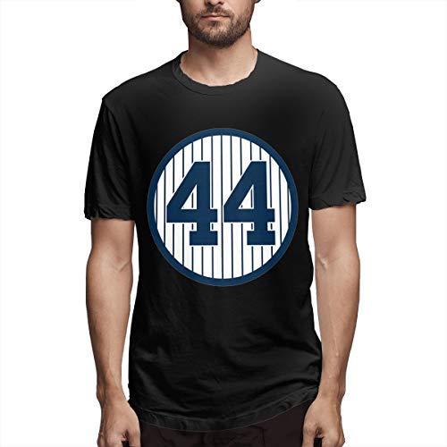 Men's Classic Solid Ultra Soft Cotton Crew Neck Reggie-Jackson-Retired-Number #44 T-Shirt Multipack Black (Jackson Reggie Shirts)