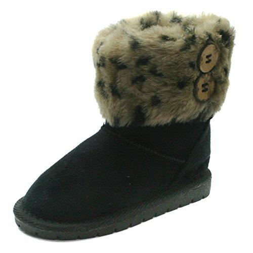 SB121 Studio BIMBI Pull On Baby Boots Mid Calf for Girls >                 > Midi hohe Baby Stiefel mit Pelz für Mädchen Black (Schwarz)