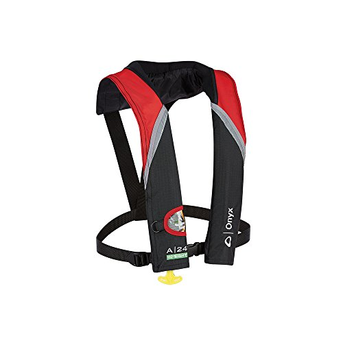 Absolute Outdoor Onyx A-24 in-Sight Automatic Inflatable Life Jacket - Red