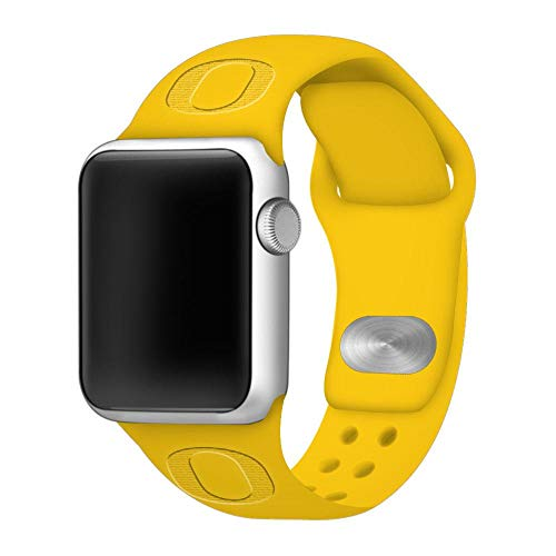 Affinity Bands Oregon Ducks Debossed Silicone Band Compatible with The Apple Watch - 42mm/44mm