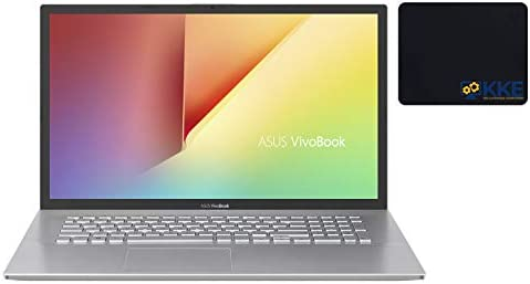 "2021 Newest ASUS VivoBook 17.3"" Thin and Light Laptop, FHD Display, Ryzen 3 3250U Processor, 12GB RAM, 512GB PCIe SSD, Windows 10 Home, Transparent Silver, KKE Bundle"
