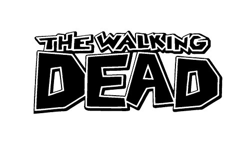 Zombie The Walking Dead Comic Book Logo, Red, 6 Inch, Die Cut Vinyl Decal, For Windows, Cars, Trucks, Toolbox, Laptops, Macbook-virtually Any Hard Smooth Surface -