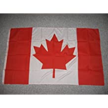 3'x 5' Canada flag with brass grommets, gift wrapped, new.