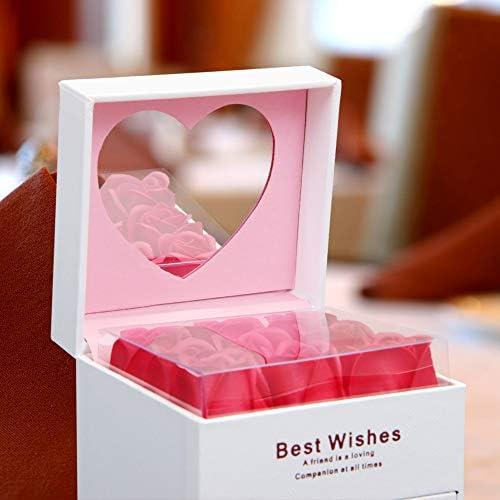 [スポンサー プロダクト]FSTgo ネックレス プレゼント ボックス ギフト ボックス ジュエリー ボックス アクセサリー バラ 9枚 薔薇 枯れないお花 ソープフラワー 石鹸花 造花 ジュエリー ケース