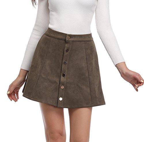 Olive Mini Skirt - 3