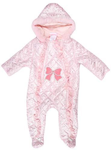 (Duck Duck Goose Newborn Baby Boys & Girls Quilted Pram Snowsuit (6-9 Months, Pink Foil)')
