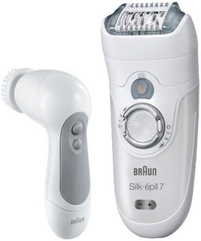 Braun Silk-épil 7 SkinSpa 7569 - Depiladora Wet & Dry sin cable con 6 extras + Cepillo Exfoliante para la cara: Amazon.es: Salud y cuidado personal