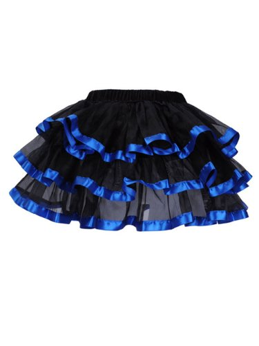 Deargirl Sexy Mini Tutu Ballet Multi-layer Ruffle Frilly Bridal Petticoat Skirt (S/M, (Bridal Mini Skirt)