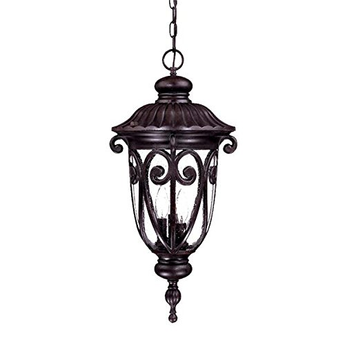 Acclaim 2126MM Naples Collection 3-Light Outdoor Light Fixture Hanging Lantern, Marbleized Mahogany Acclaim Lighting Naples Collection