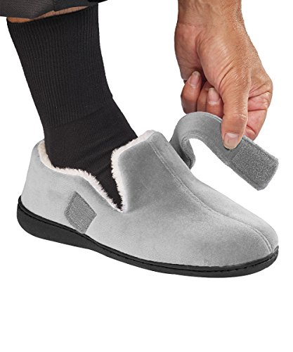 Step-in Memory Foam Slippers For Men - Extra Wide Mens Slippers