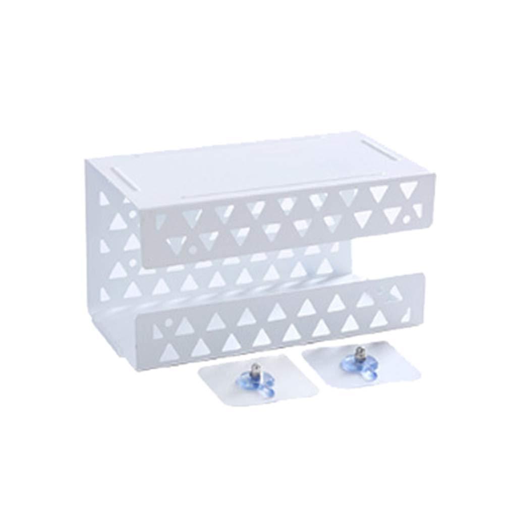 Schwarz Huhuswwbin Kosmetikt/ücher-Box Praktisch Familie Bad Wandhalterung Toilettenpapier Tissue Hollow Storage Rack Shelf Box Holder