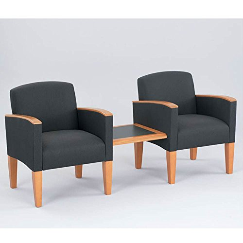 Lesro Belmont Guest Chair - Two Guest Chairs with Center Connecting Table Dimensions: 26