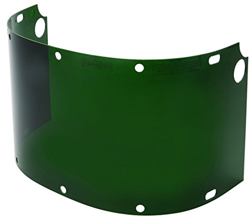 Kimberly-Clark Professional HON6750IRUV5 Fibre-Metal by Honeywell High Performance Model 6750 8'' X 16 1/2'' X .06'' Green Shade 5 Injection Molded Propionate Extended View Faceshield, 15.34 fl. oz. 0.06' Green Shade