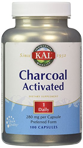 KAL - Charcoal Activated, 280 mg, 100 capsules (Kal Charcoal)
