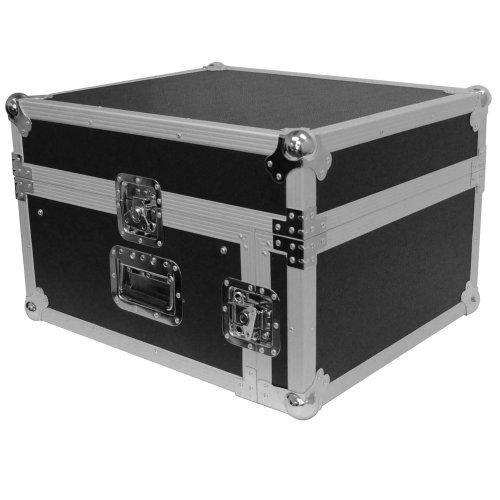 - Seismic Audio - SAMRC-4U - 4 Space Rack Case with Slant Mixer Top - PA/DJ Pro Audio Road Case