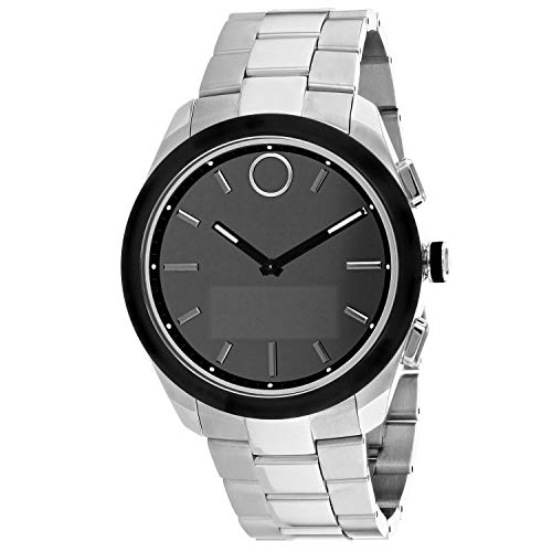 Movado Bold Connected II Quartz Watch with Stainless-Steel Strap, Silver, 22 (Model: 3660013)