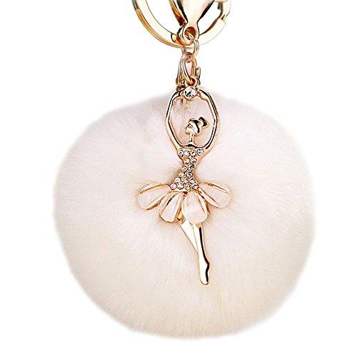 Shining Crown Lover Cute Love Rabbit Keyrings Design Metal Couple Keychain Auto Pendant Bag Charm a ()