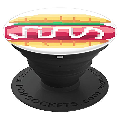 BURGER -Pixel-style - PopSockets Grip and Stand for Phones - PopSockets Grip and Stand for Phones and Tablets