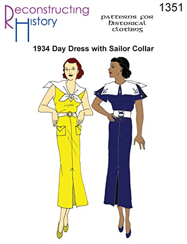 - 1934 Day Dress with Sailor Collar Pattern