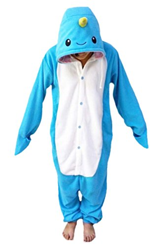 WOTOGOLD Animal Cosplay Costume Unisex Adult Narwhal Pajamas Blue, -