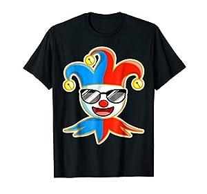 Joker Sunglasses Laughing Shirt T-Shirt Jester Tee