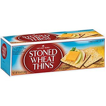 Red Oval Farms, Stoned Wheat Thins, 10.6oz Box (Pack of 4) by Red Oval Farms