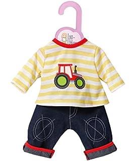 Babypuppen & Zubehör Zapf Creation Dolly Moda Sport Outfit Fuchs 38-46 cm Blau-Grau