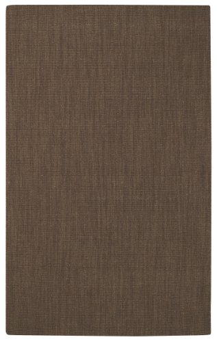 - Capel Rugs Hermitage Rectangle Flat Woven Area Rug, 7 x 9', Cocoa