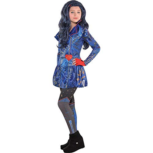 Costumes USA Disney Descendants 2 Evie Costume for Girls, Size Medium, Includes a Dress, Leggings, and Fingerless ()