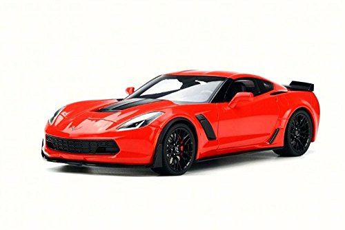 GT Spirit 2017 Chevy Corvette Z06, Torch Red US005 - 1/18 Scale Collectible Resin Model Car ()