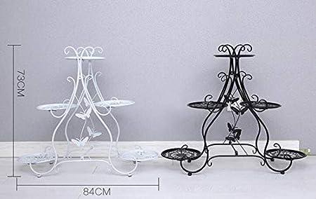 support de support de stockage de pot de fleur ext/érieur//int/érieur pr/ésentoir de plante en pot 5-couche au sol XZGDEN Support de fleur en fer forg/é