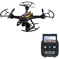 Rc Drones with Camera HD 2.0MP FPV RC Quadcopter With Camera Live Video on Remote FPV Drone with Camera for Beginners - Altitude Hold Easy Control